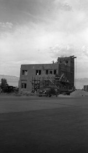 Monte Vista Fire Station under construction, July 1936