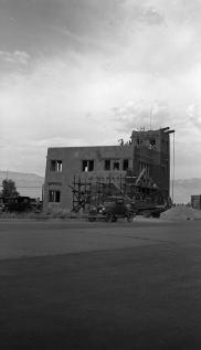 Monte Vista Fire Station under construction, July 1936