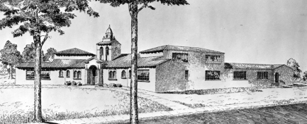 Date Unknown | Drawing of Monte Vista School
